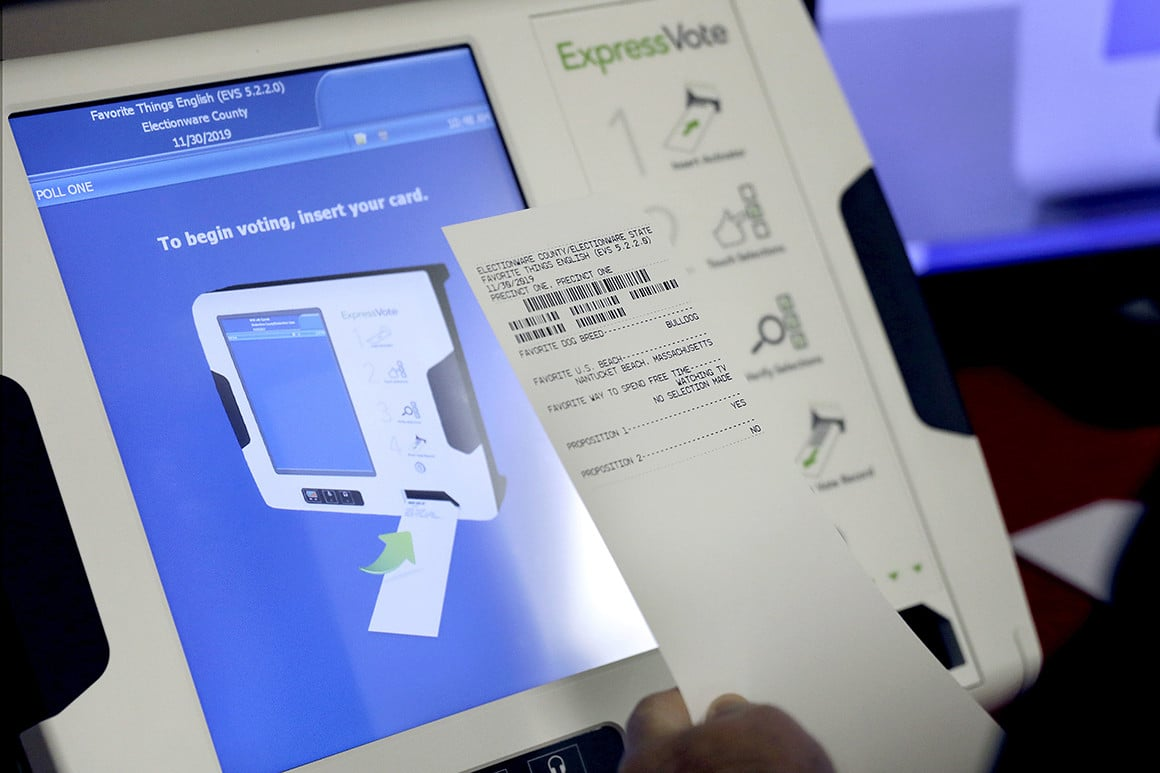State election officials opt for 2020 voting machines vulnerable to hacking